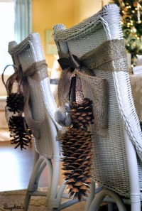 pine cone chair backs